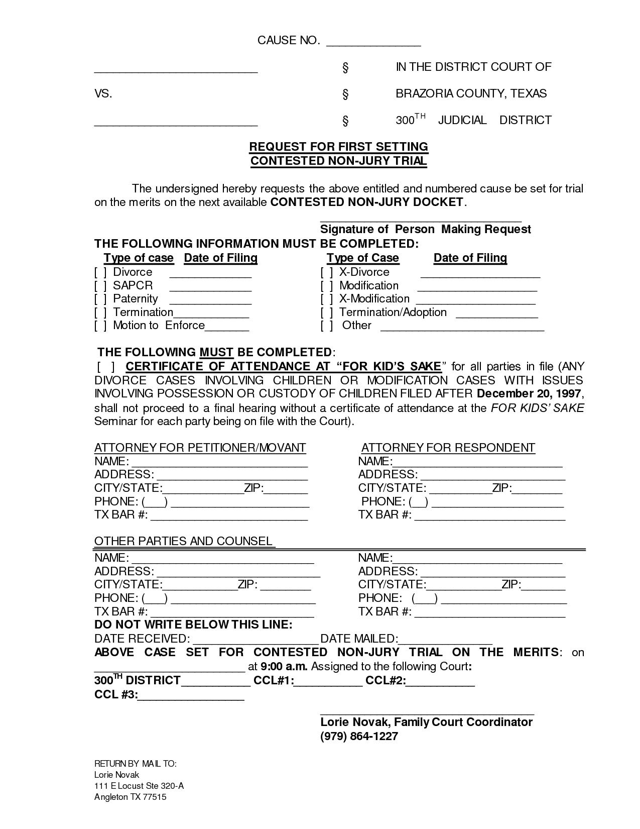Divorce Application Form Kerala Pdf