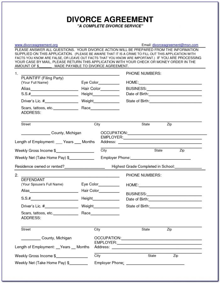 Divorce Application Forms Pdf South Africa