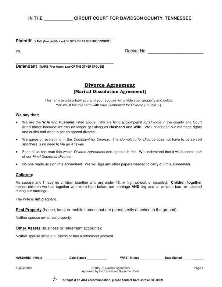 Divorce Decree Form Beautiful 54 Best New York State Separation Agreement Form