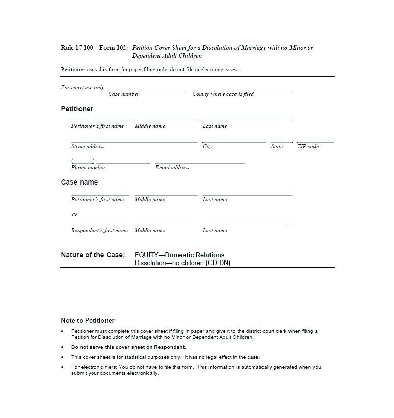 Divorce Decree Form Oklahoma
