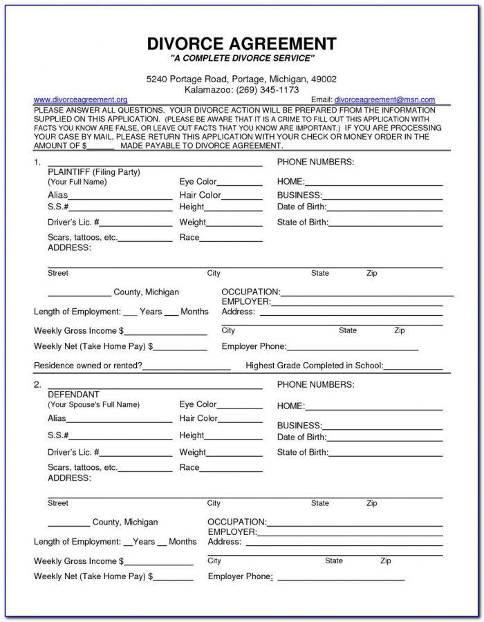 Divorce Fee Waiver Form Florida