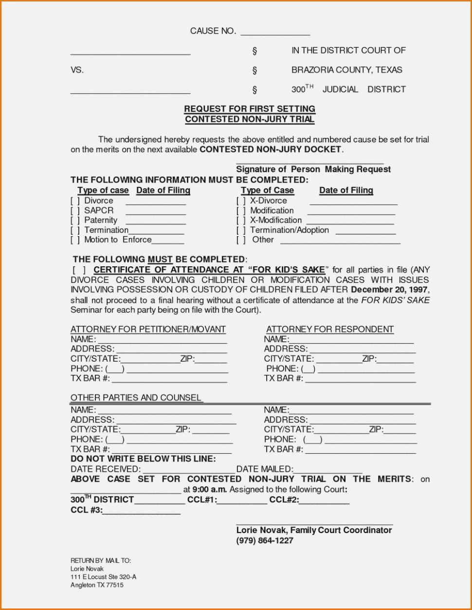 Divorce Forms El Paso County