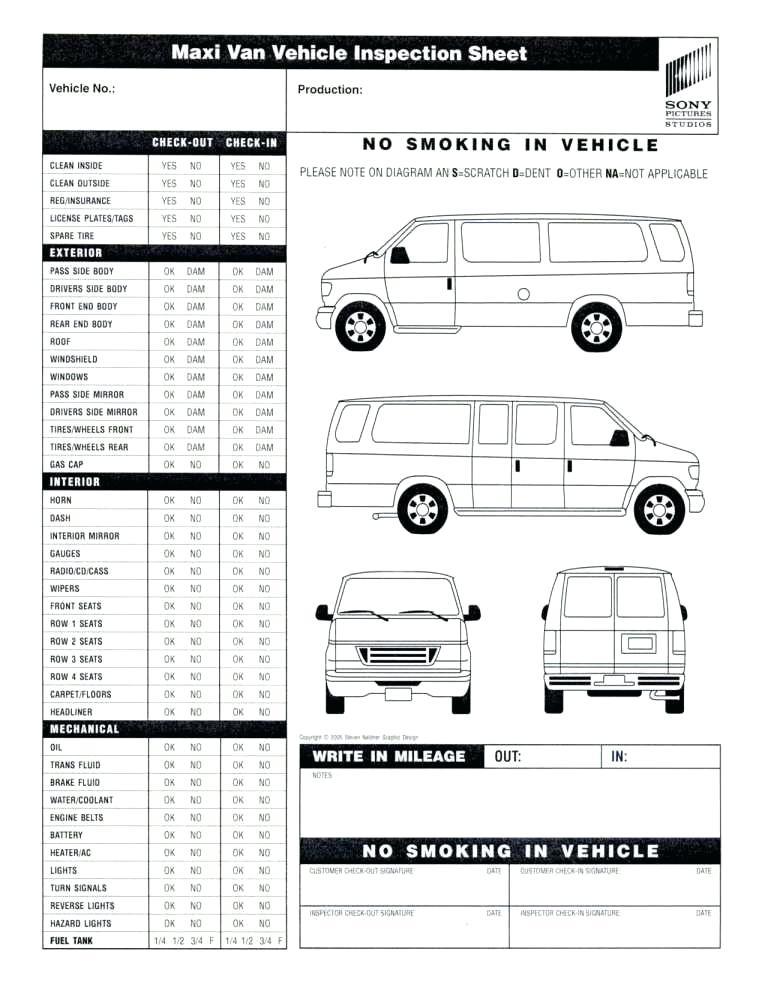 Dot Truck Inspection Form Template