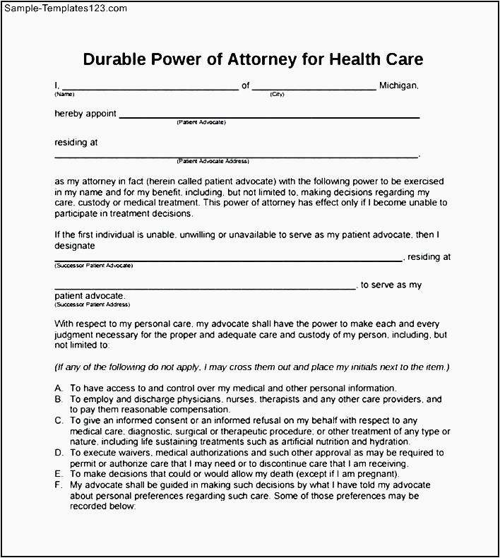 Florida Durable Power Of Attorney Form Gallery To Subscribe My Free Weekly Legal Newsletter Visit Poa Forms Durable