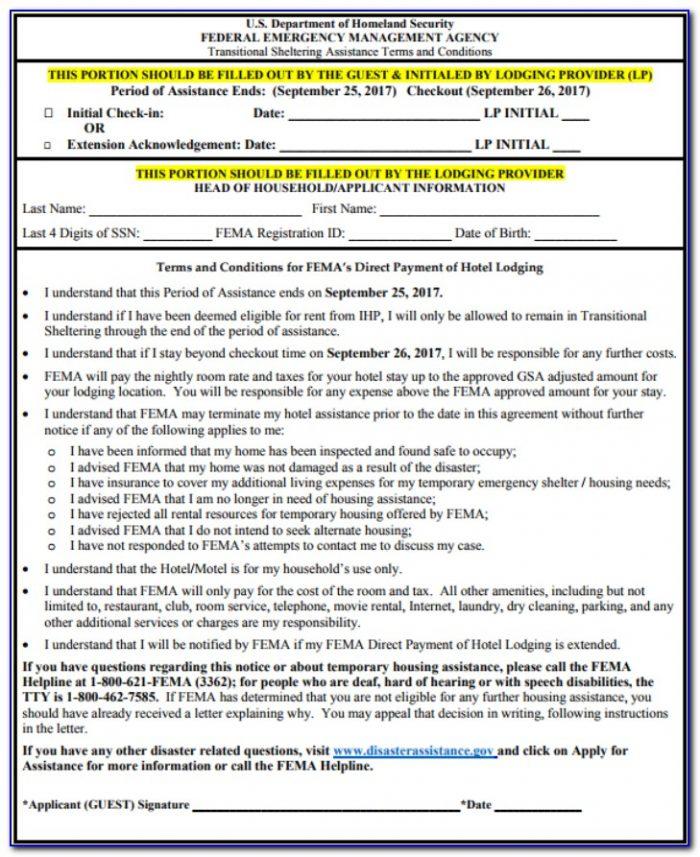 Fema Loma Application Form