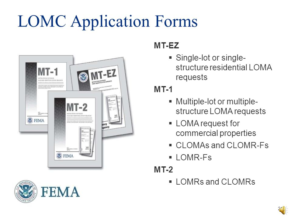 Fema Mt 1 Application Forms