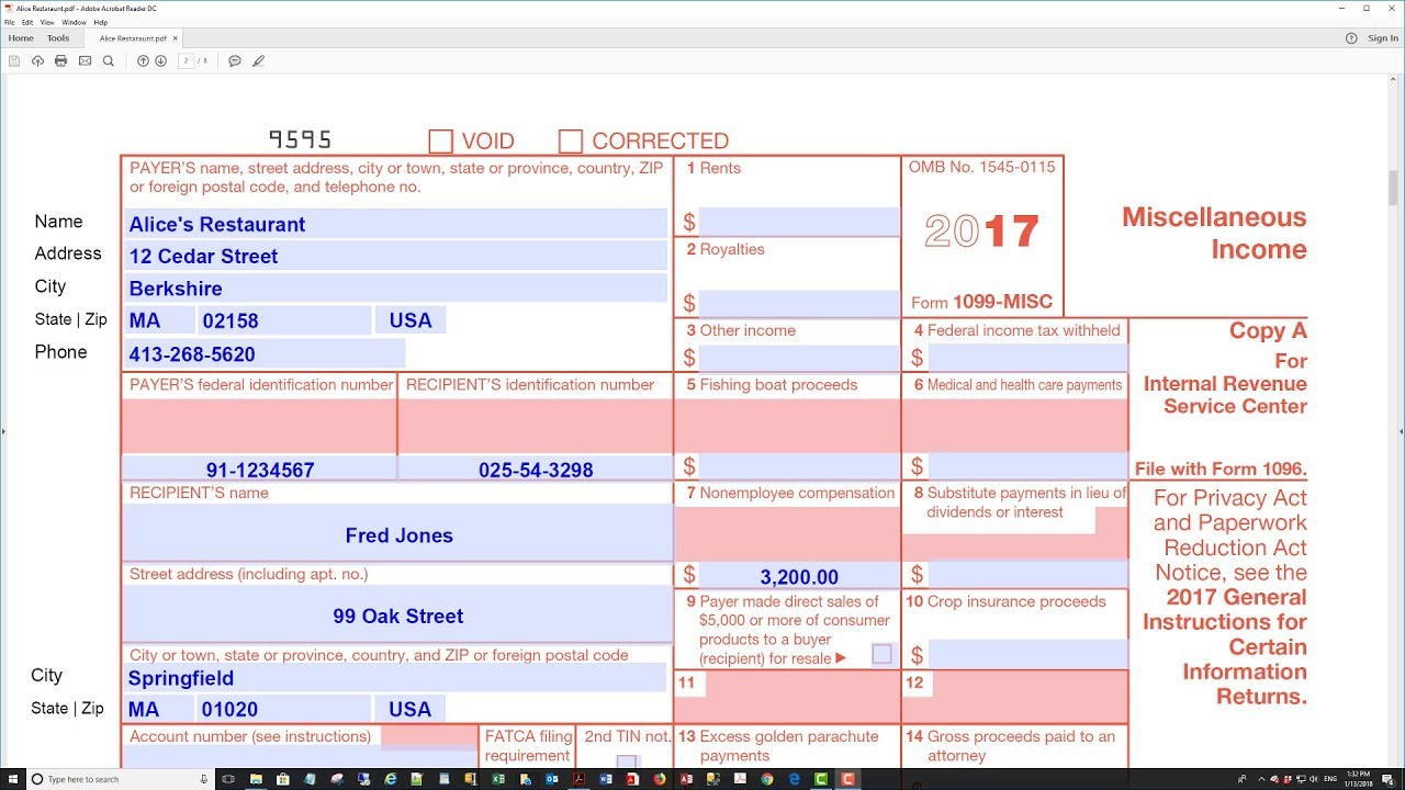 Filing Form 1099 Misc Electronically