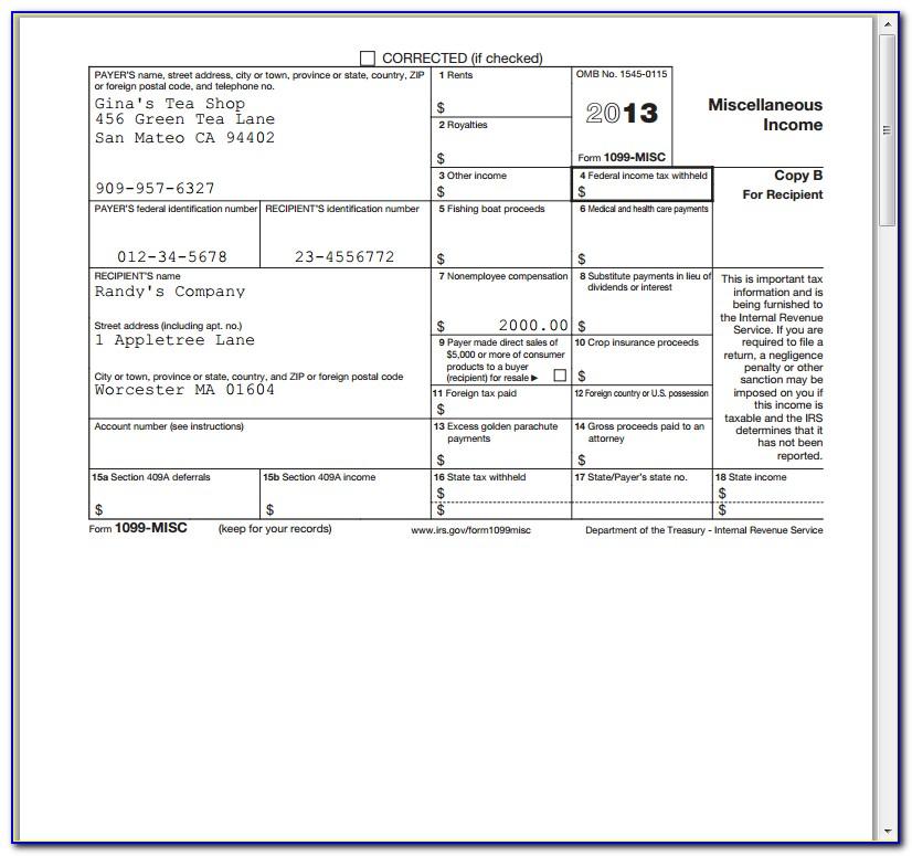 Filing Form 1099 Misc