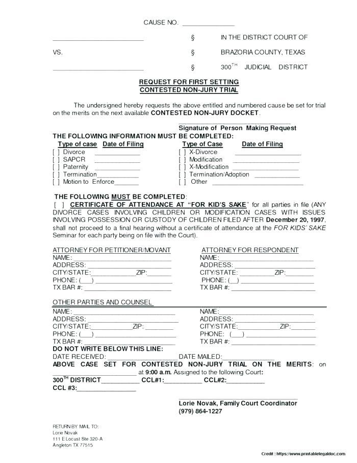 Final Decree Of Divorce Form Mississippi