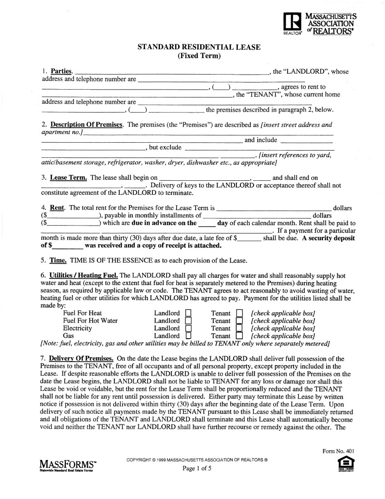 Florida Association Of Realtors Residential Lease Form