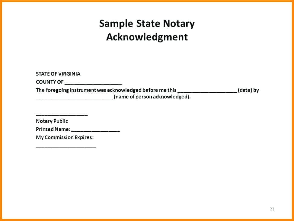 Florida Notary Template