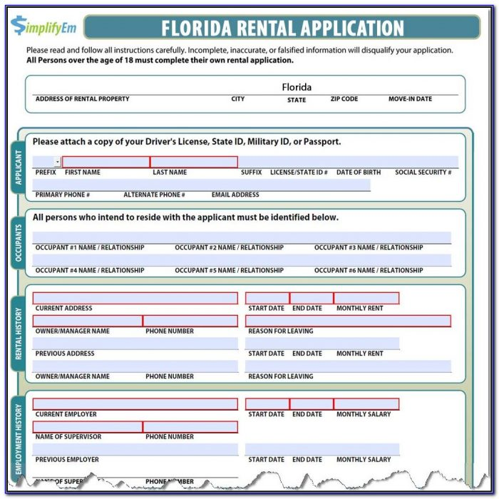 Florida Realtors Residential Lease Form