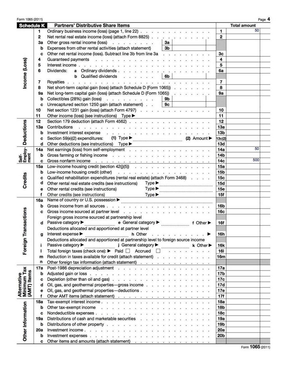 Form 1065 Online Filing