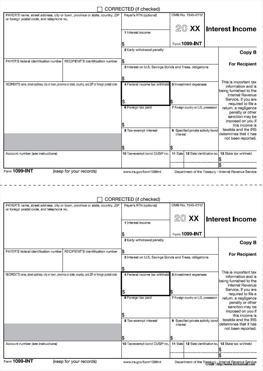 Form 1099 Fillable 2017