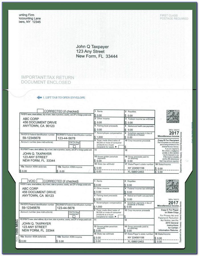 Form 1099 Miscellaneous 2017