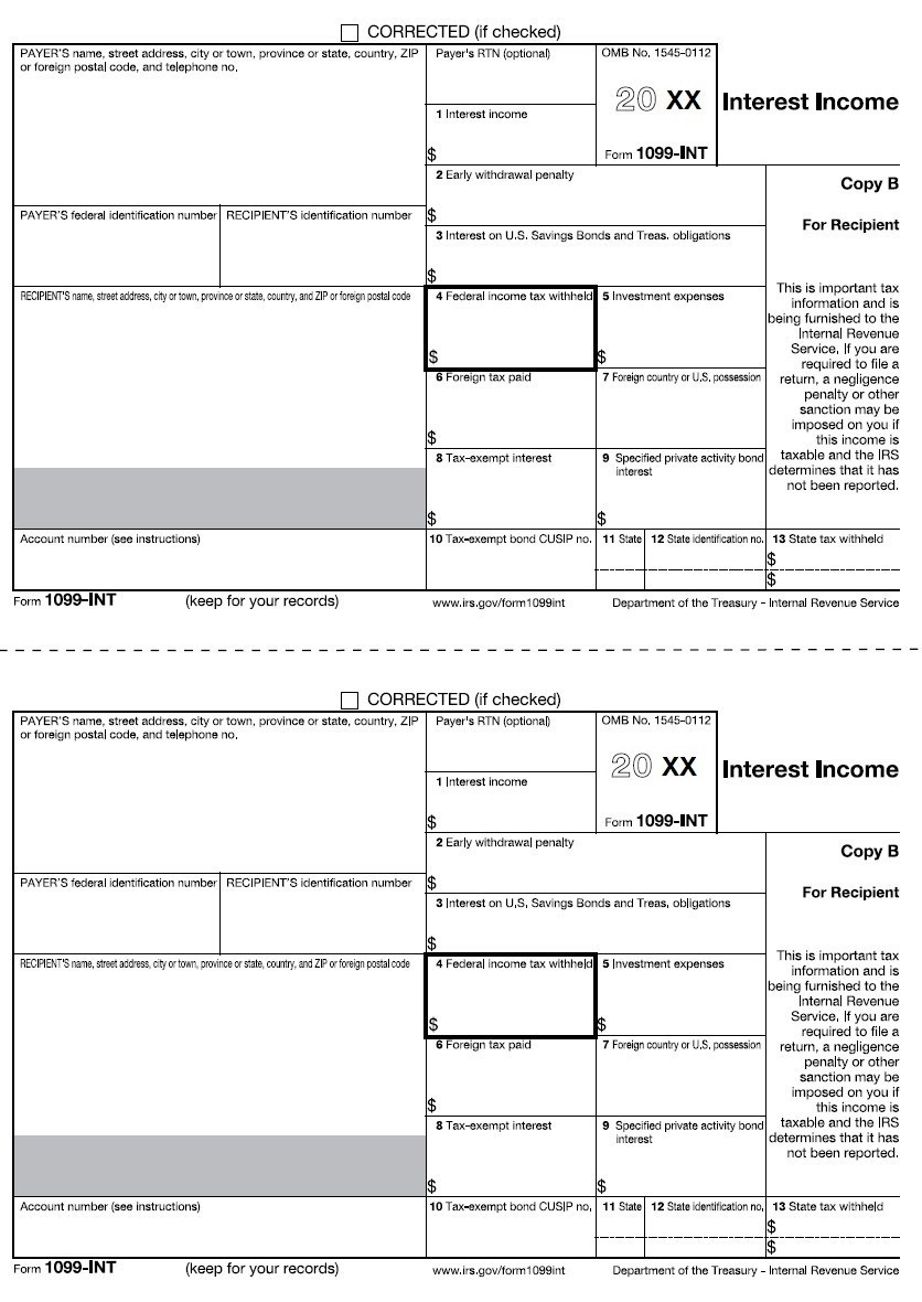 Form 1099 Tax Withholding