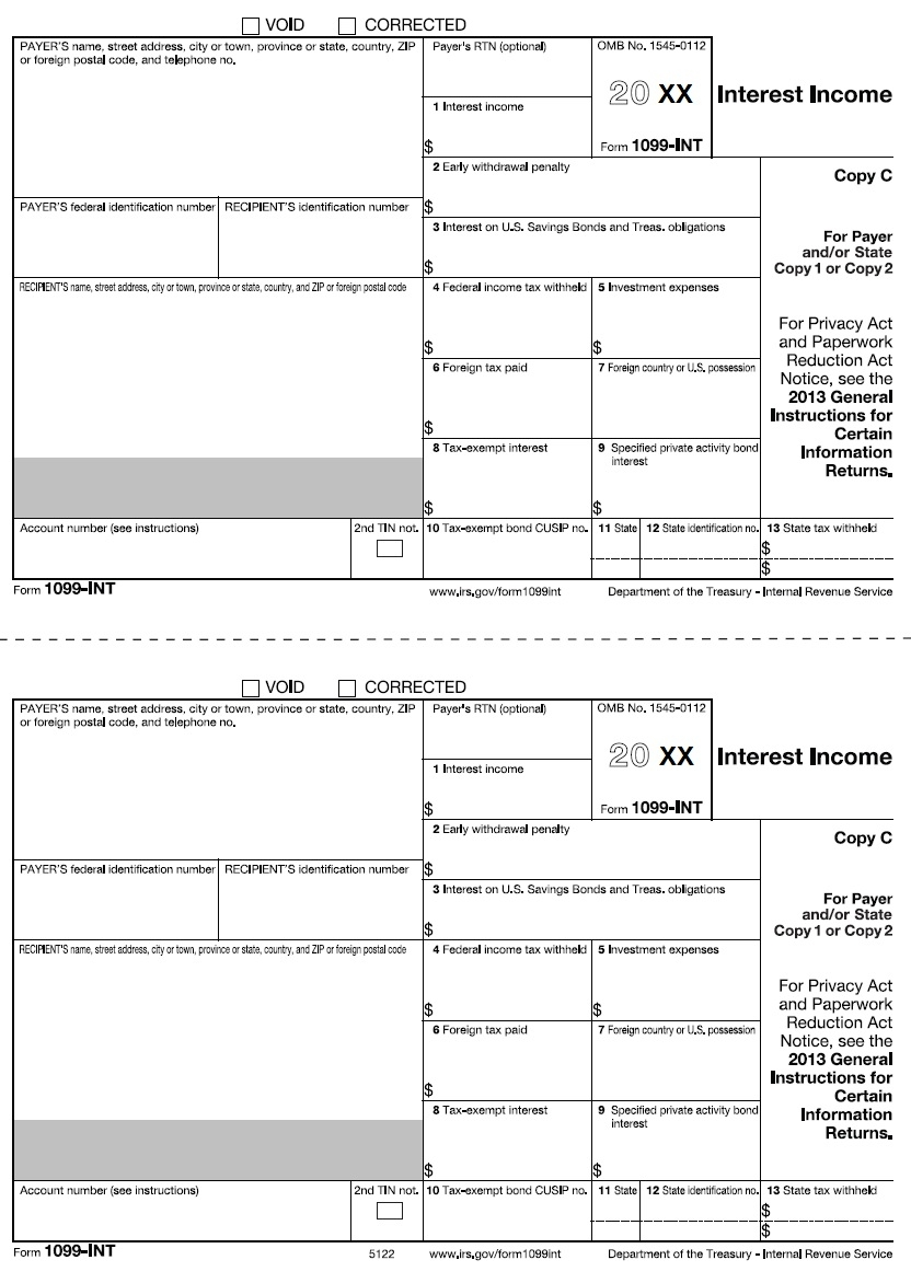 Free Blank 1099 Misc Form 2017