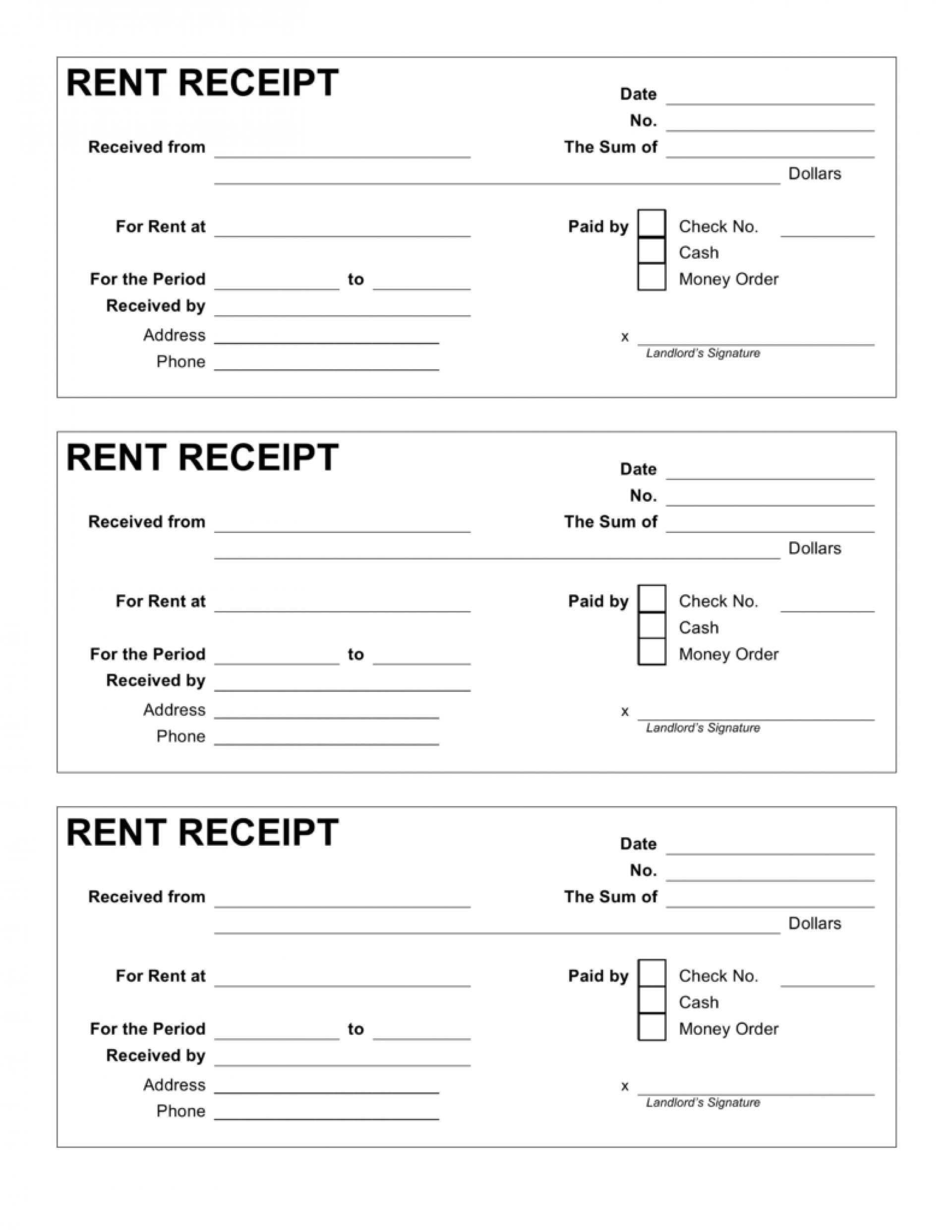 Free Download Rent Receipt Format