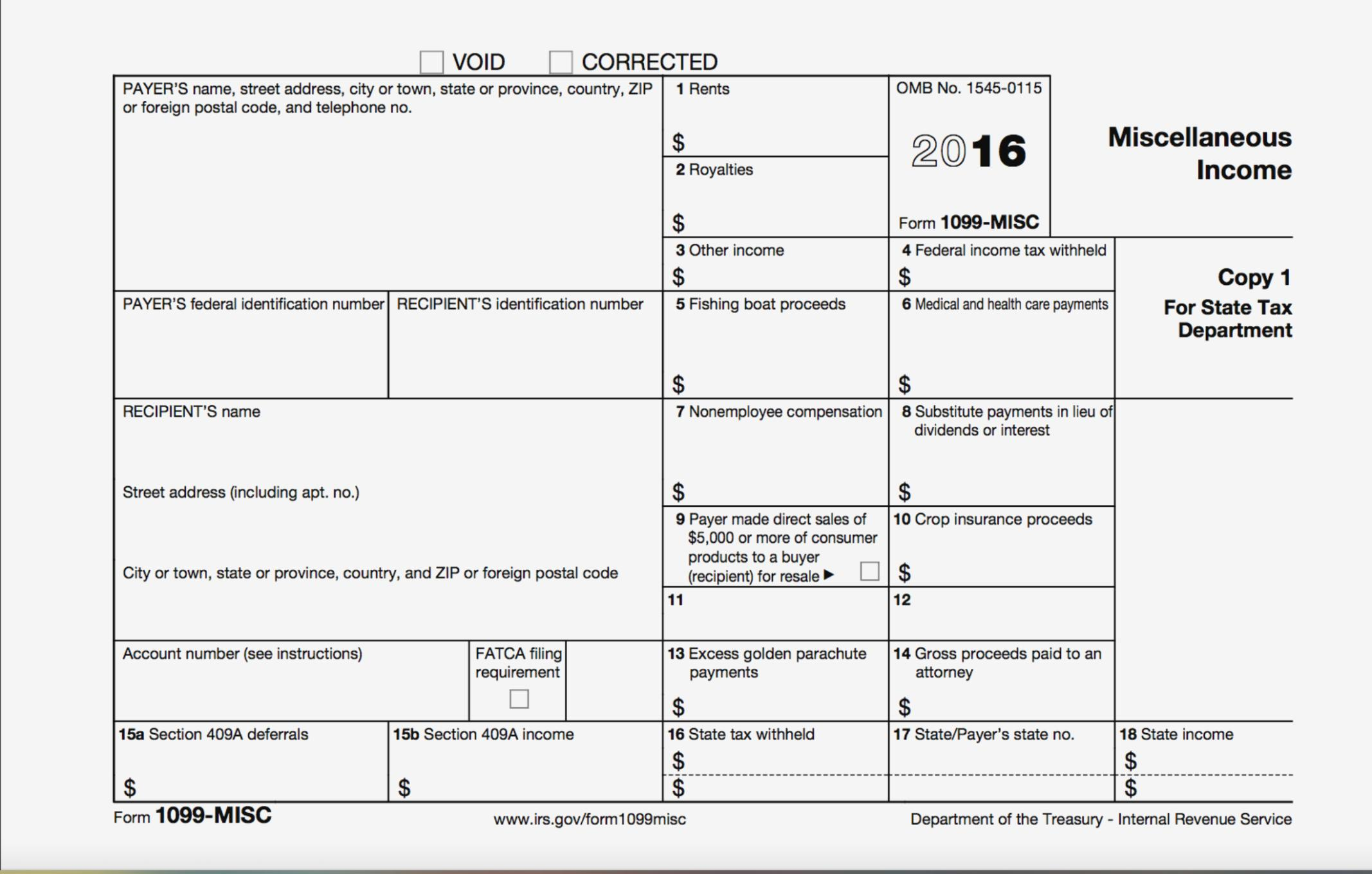 Free Fillable Form 1099 Misc 2017