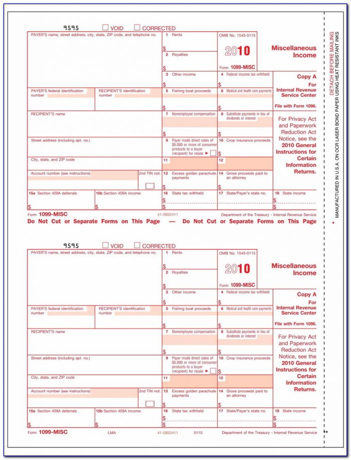 Free Fillable Irs Form 1099 Misc
