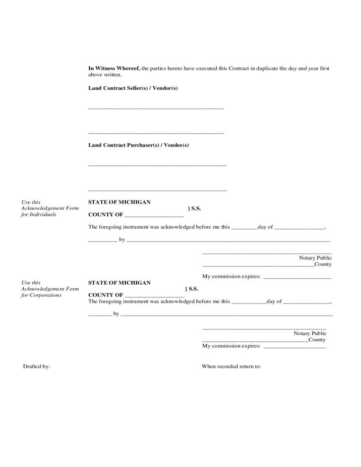 Free Land Contract Forms Pennsylvania