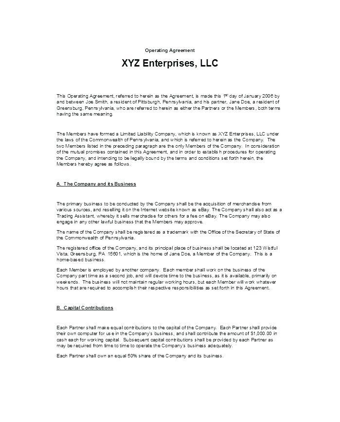 Free Llc Buyout Agreement Form