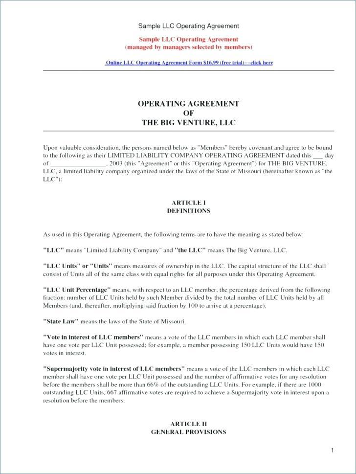 Free Oregon Llc Operating Agreement Form