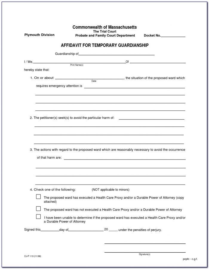 Free Printable Guardianship Forms Oklahoma