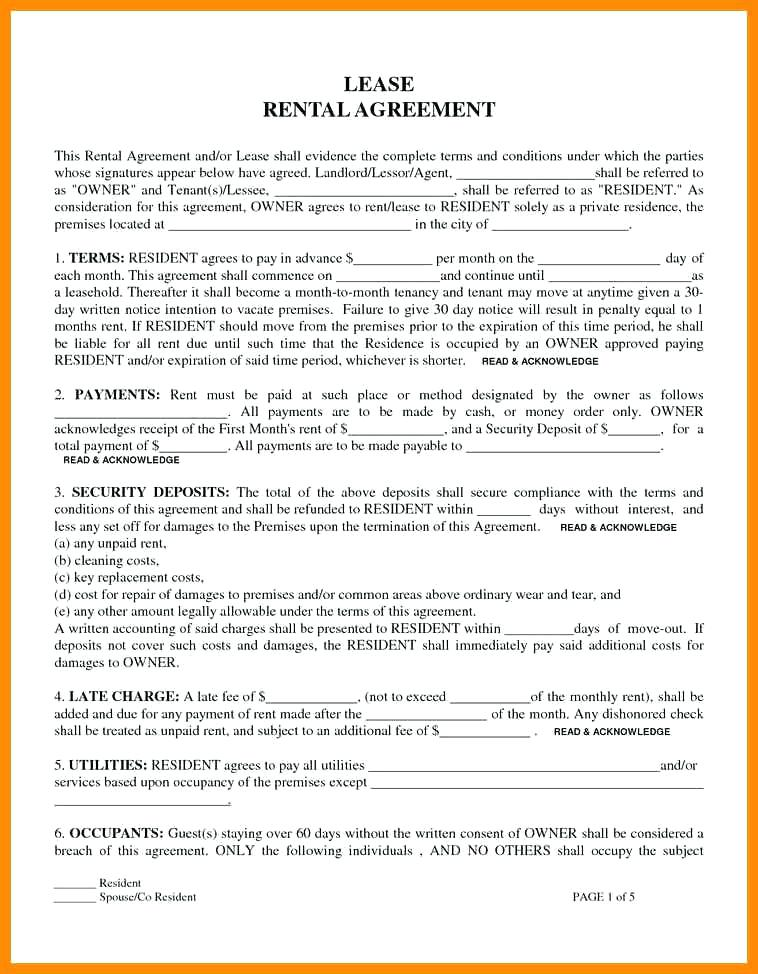 Free Rental Lease Form Ny