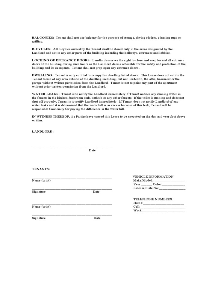 Texas Monthly Lease Agreement Form Free Download Monthly Rental Agreement Form