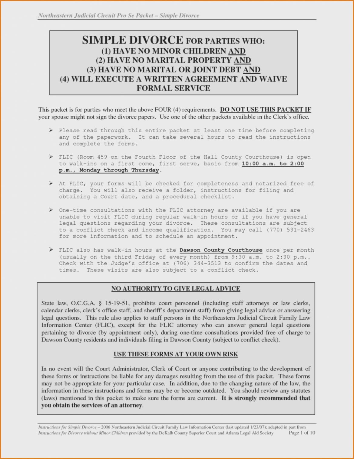 Gwinnett County Legal Aid Divorce Forms