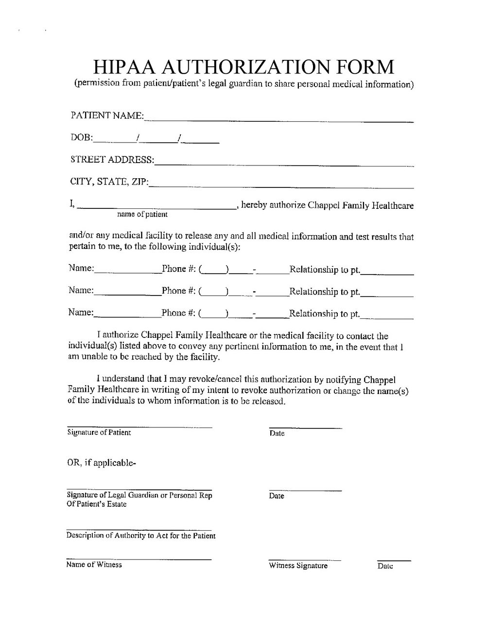 Hipaa Forms For Private Practice