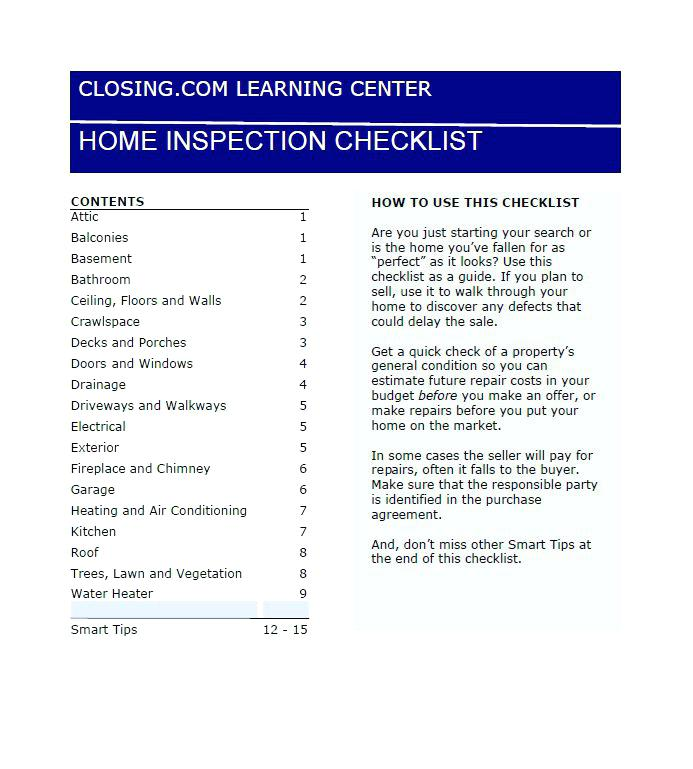 Home Inspection Report Forms Free Download