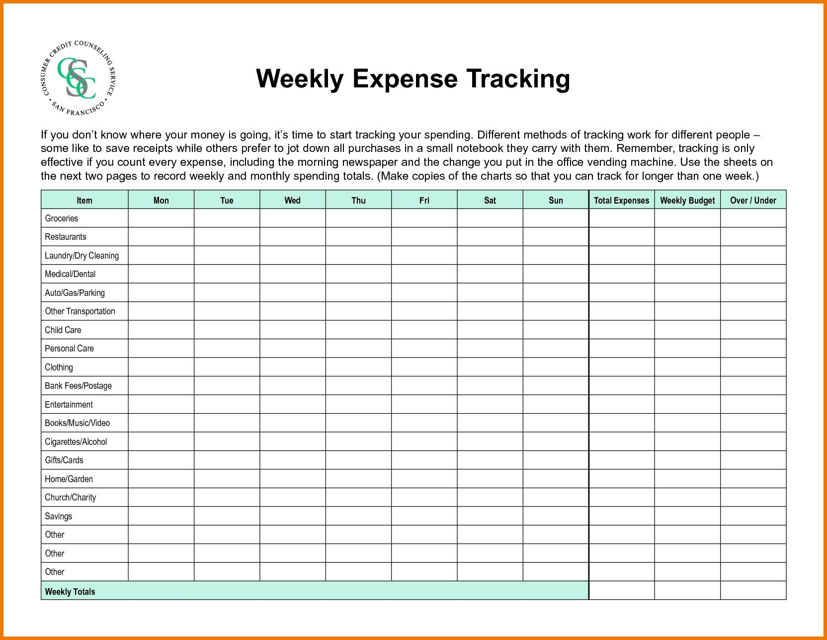 28+ [ Weekly Budgeting Worksheets ] | Weekly Budget Worksheet Bi Inside Weekly Expenses Spreadsheet