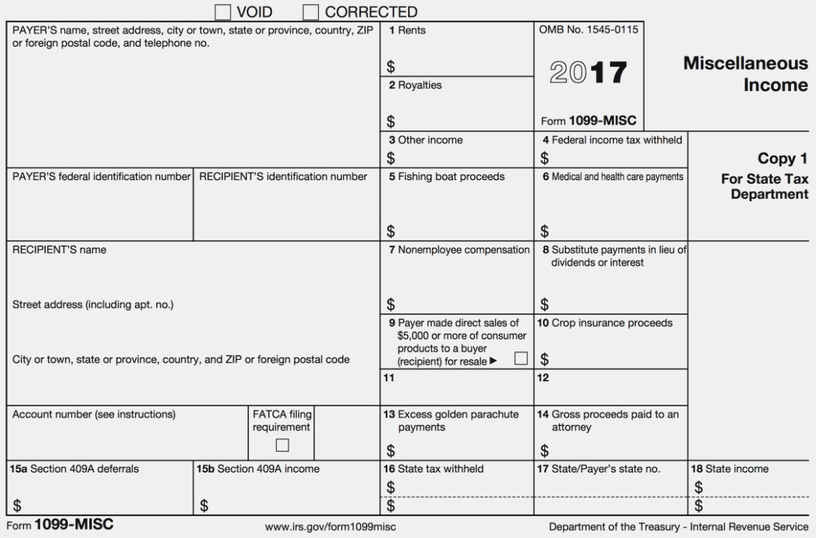 How To File A 1099 Misc Form