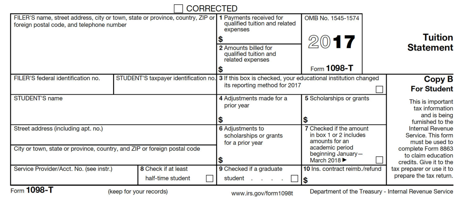 How To File Form 1098 T On Taxes