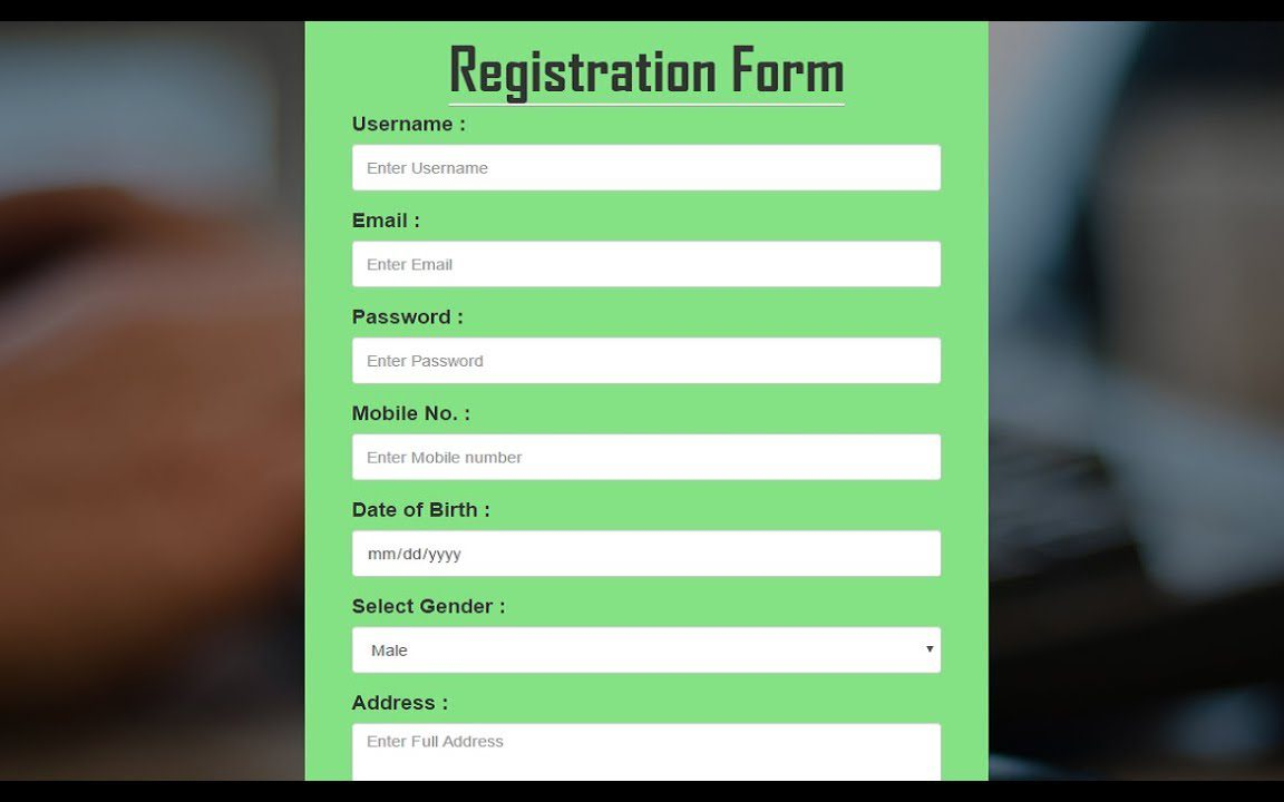 Html5 Css3 Contact Form Template Free