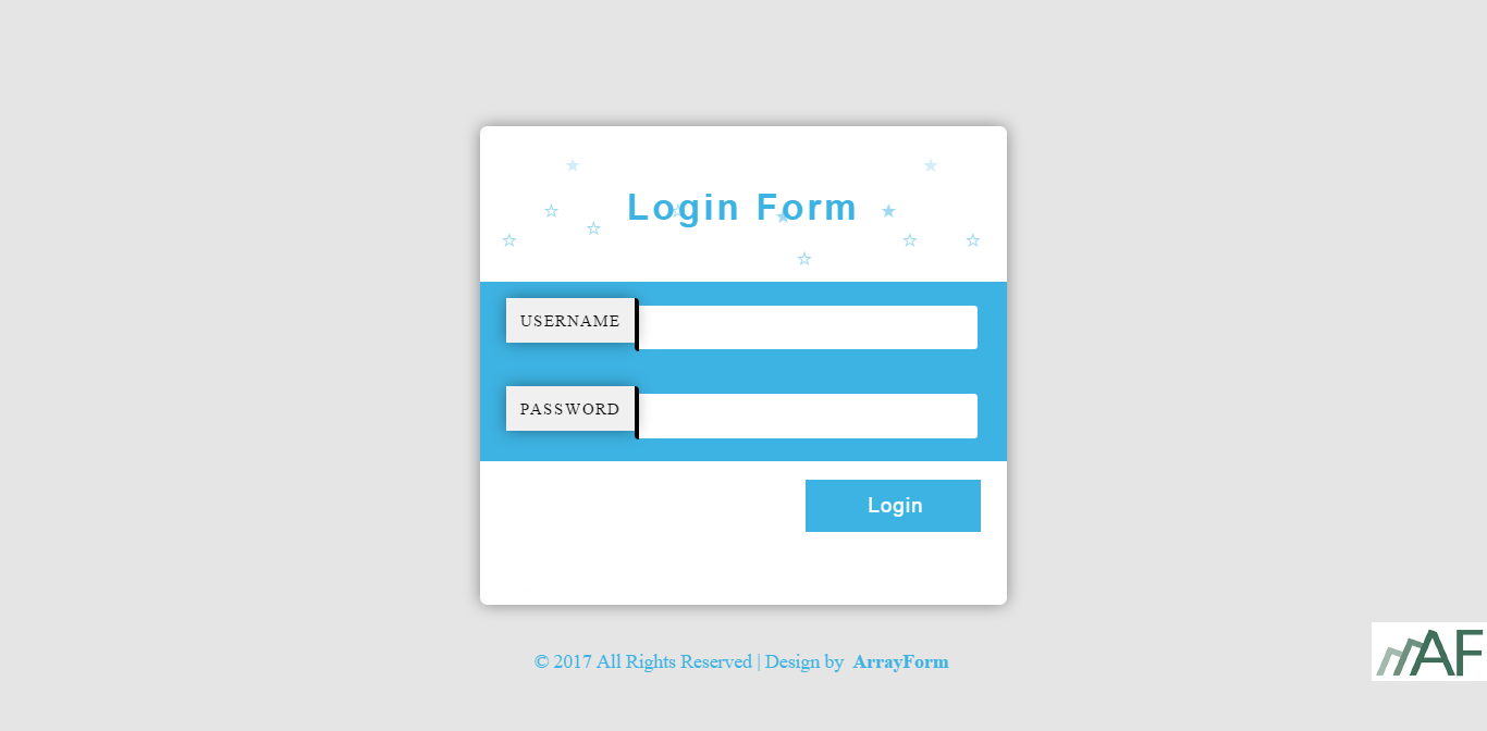 Html5 Css3 Login Form Templates