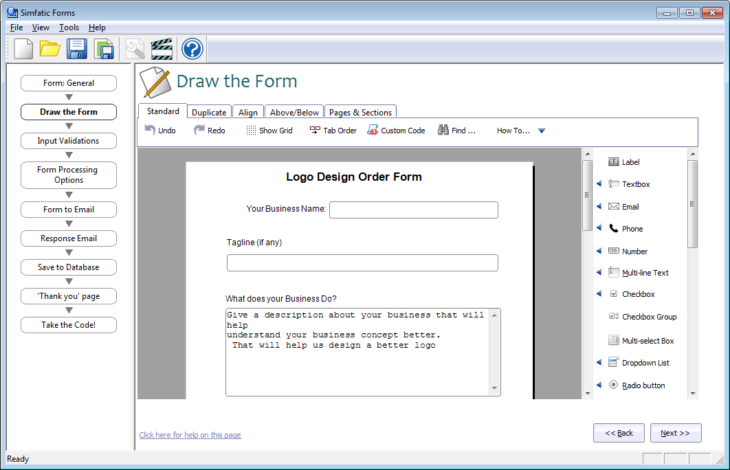 Html5 Form Generator With Validation
