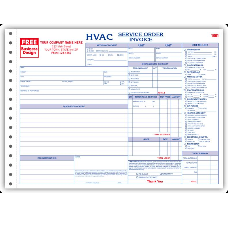 Hvac Contractor Forms
