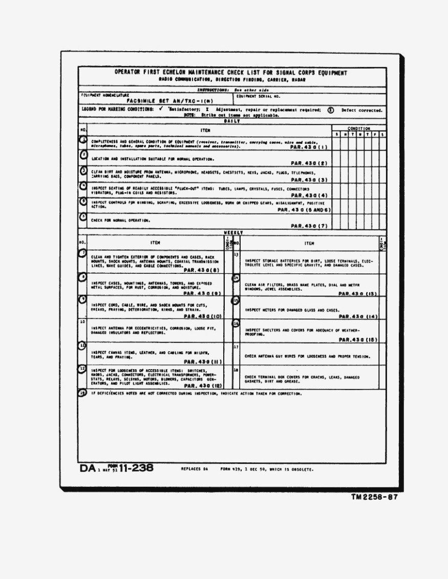 Hvac Preventive Maintenance Form