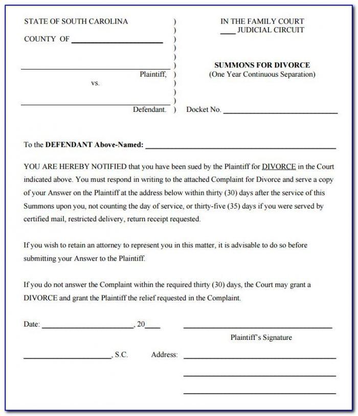 Illinois Legal Separation Document