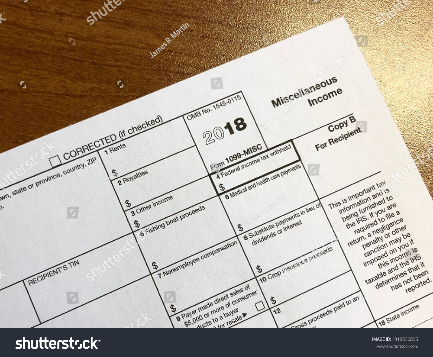 Irs Form 1099 Miscellaneous