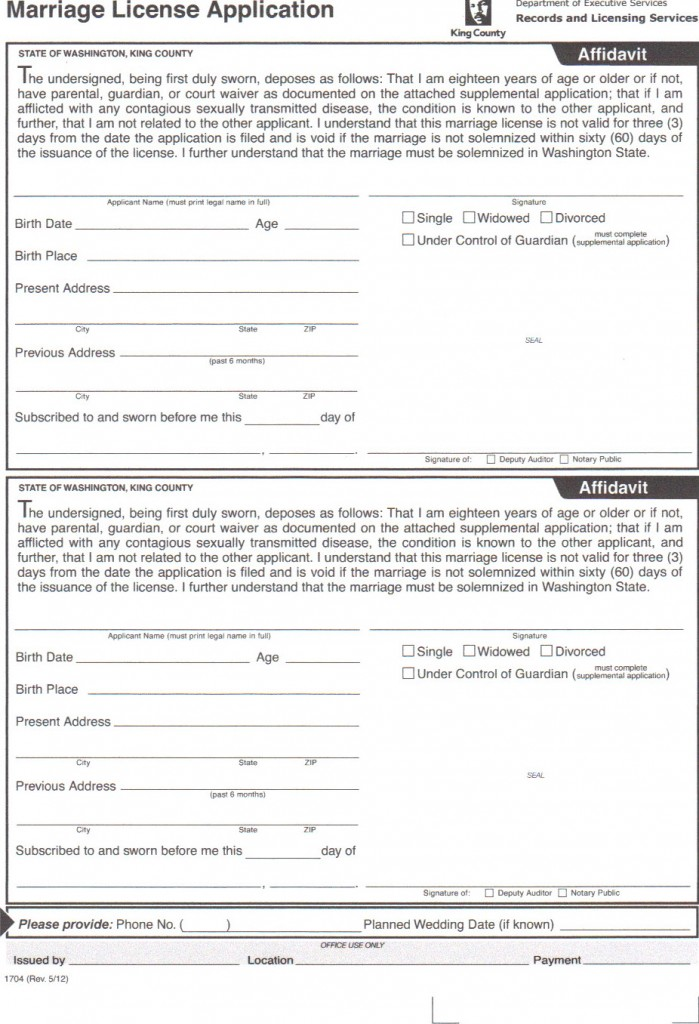 King County Court Probate Forms