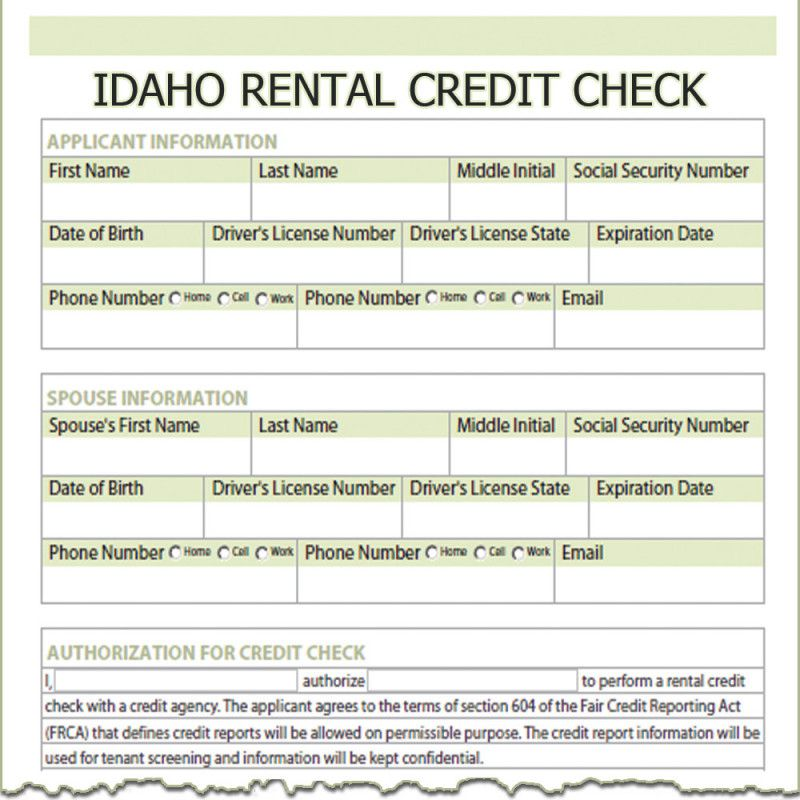 Landlord Credit Report Authorization Form