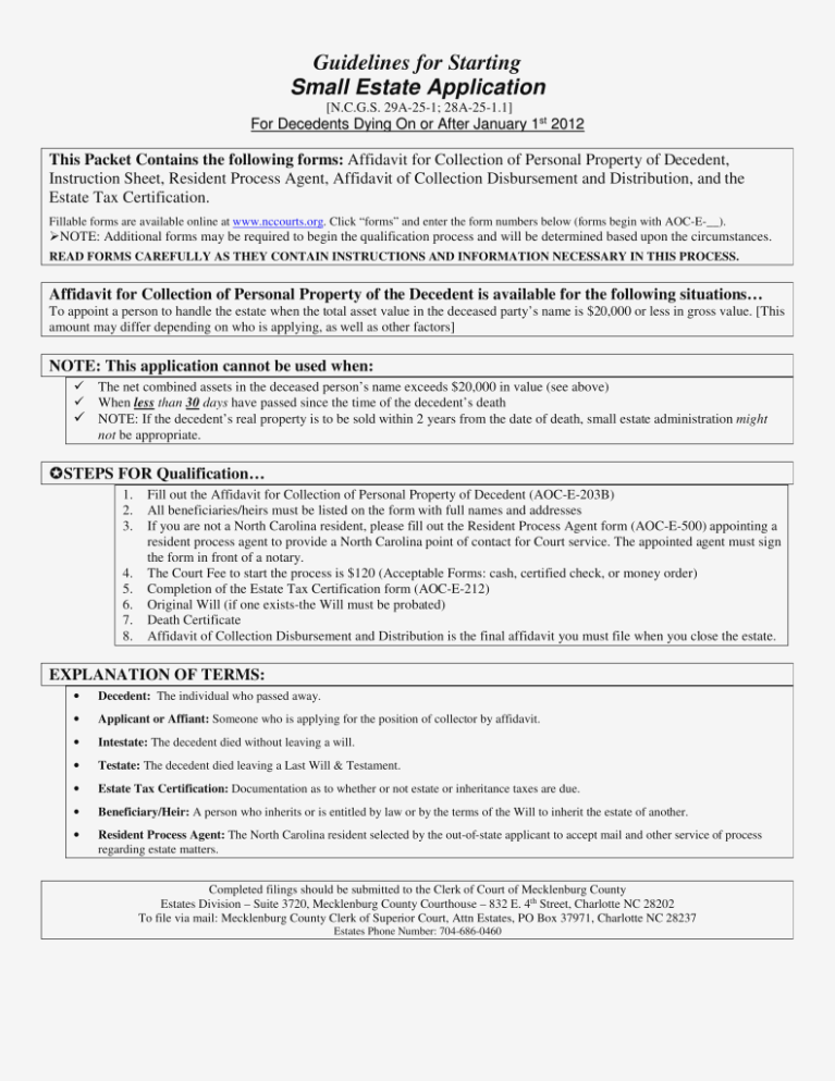 Mecklenburg County Nc Eviction Forms