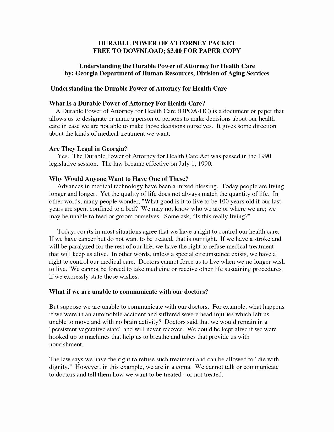 New Jersey Durable Power Of Attorney Awesome Georgia Power Attorney Form Pdf Best General Power Attorney