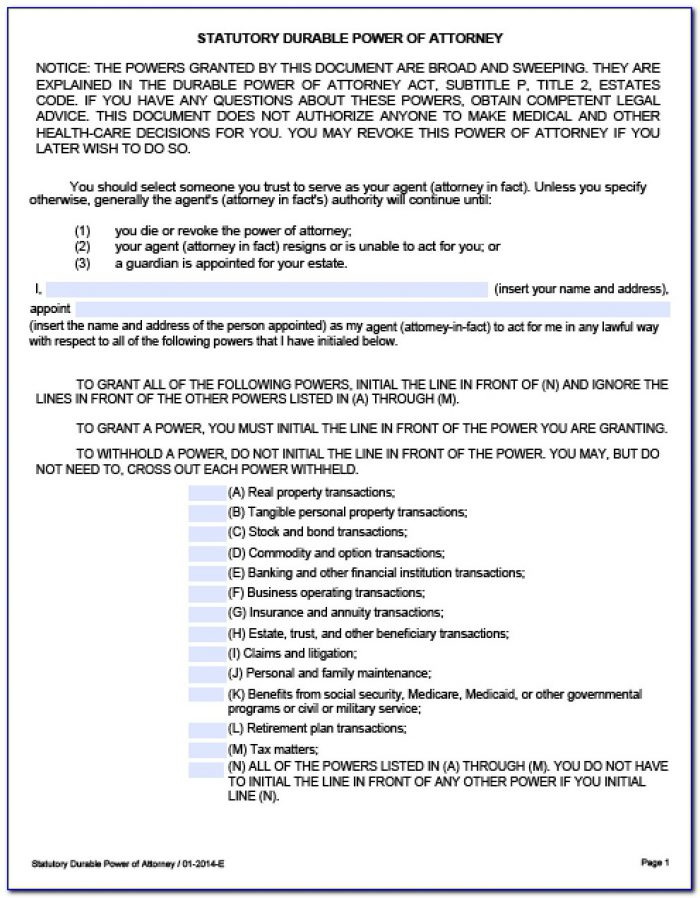 Michigan Power Of Attorney For Finances Form