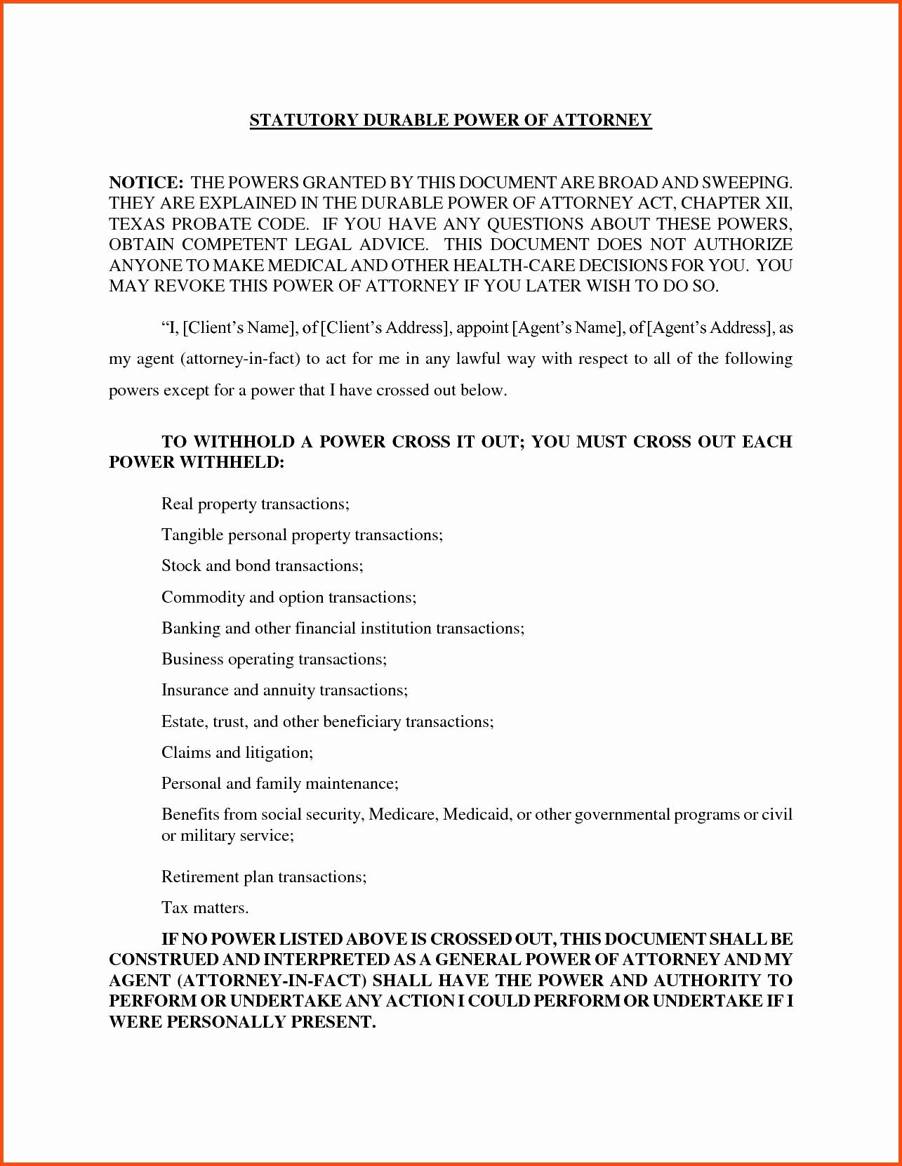 Missouri Power Of Attorney Elegant Texas Limited Power Attorney Form Beautiful Power Attorney Form