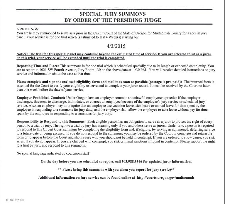 Multnomah County Civil Court Forms